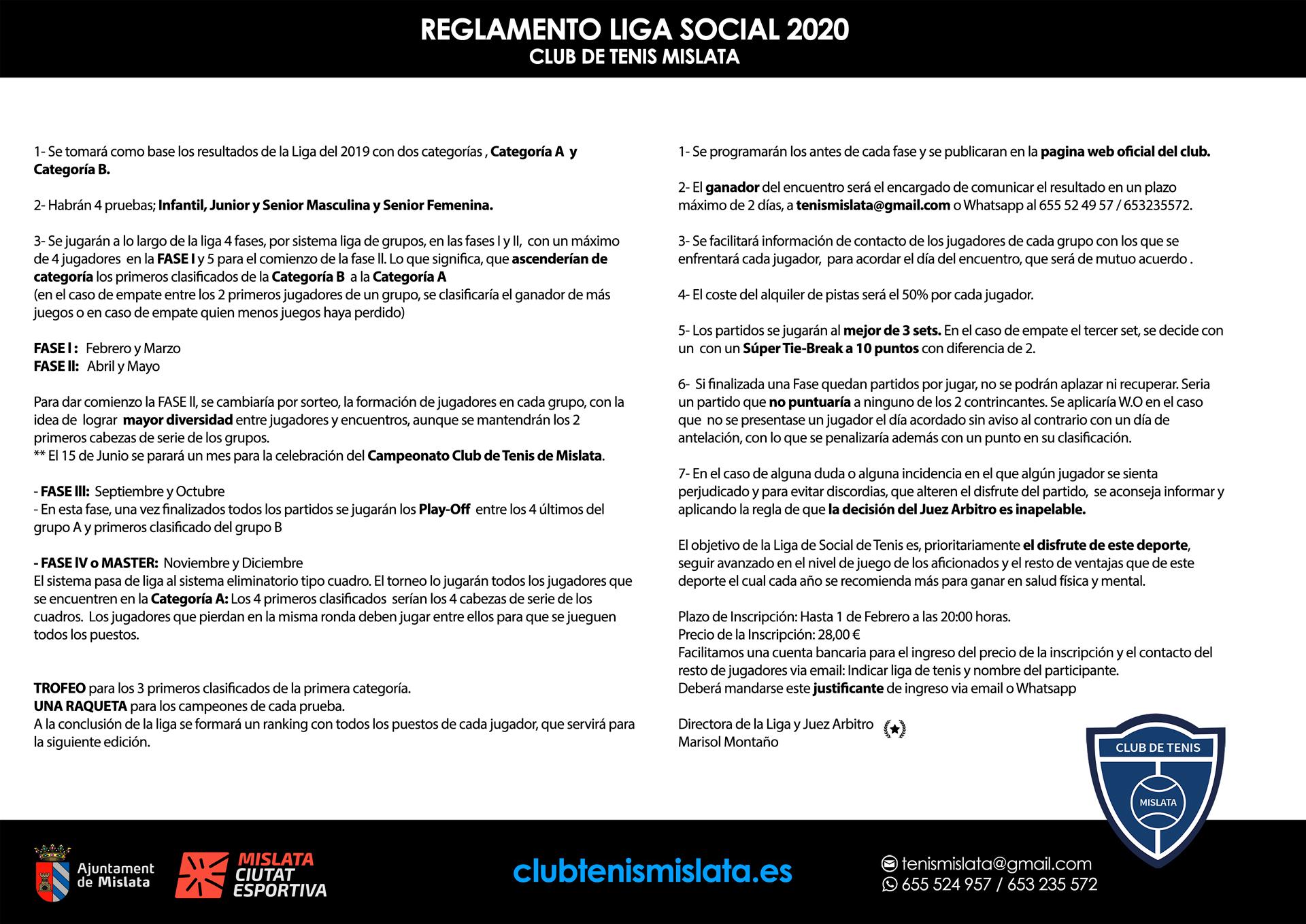 Liga Social Club de Tenis Mislata