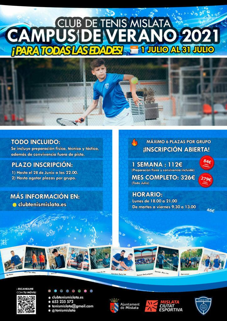 Campus de verano tenis 2021